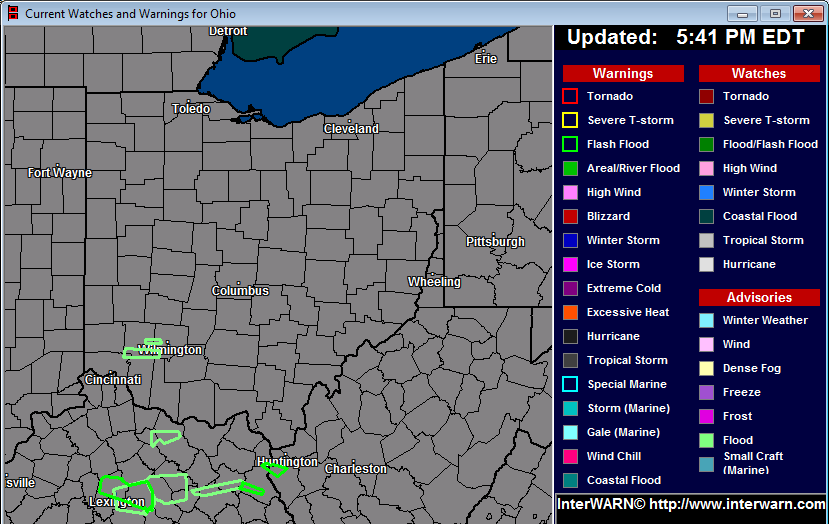 Watch Warning graphic for Ohio